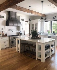 Farmhouse Kitchen Decorating Ideas With Wooden Cabinet 03