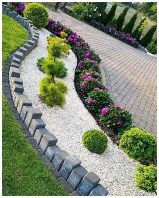 Incredible Edging Garden For Your Front Yard 06
