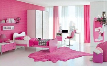 Lovely Small Bedroom Decor With Pink Nuance 19
