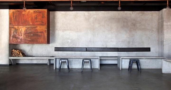 Interiør av betong