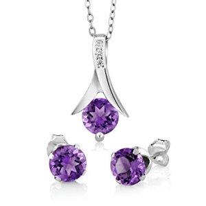 pendant earrings amethyst