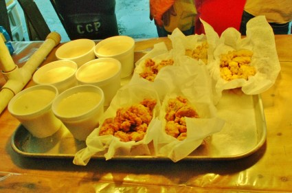Clam chowder, fried oysters, and fried clam strips rarely have a chance to get cold.