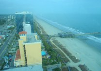 View looking north along Myrtle Beach