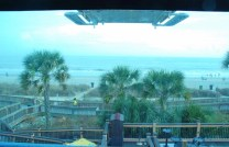 View coming down on the beach side of the SkyWheel