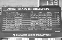 Philadelphia 30th Street Station, schedule board, Amtrak, station, Phildelphia