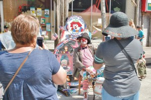Antique Jack puts on a good show form kids and adults--humor, juggling, magic.