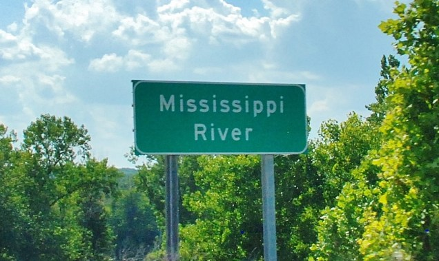 Leaving Indiana, our immediate goal was to cross the Mississippi River.