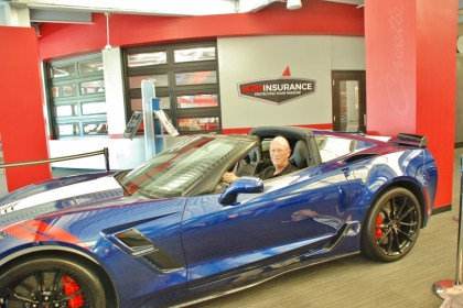 A Brand New Corvette in the Lobby, Available for Daydreaming