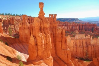 Hoodoos have sort of a ghostly human appearance