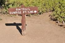Rim Trail Marker