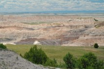 The Badlands stretch as far as the eye can see.