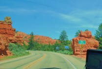 Entering Red Canyon approaching Bryce City