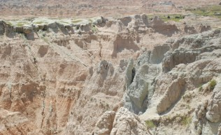 The Badlands are a palette of subtle colors and hues.