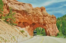 Approaching Red Canyon in Dixie National Forrest near Bryce City
