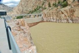 The Dam that creates Buffalo Bill Lake--the Buffalo Bill Dam!