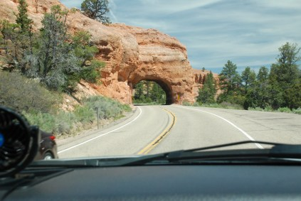 Entering Red Canyon going toward Bryce City