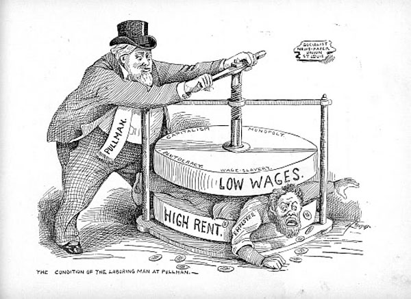 High Rent - Low Wages 1894