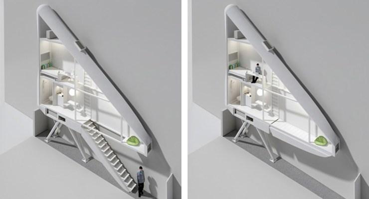 Dünyanın En Küçük Evini İki Bina Arasına Sıkıştırdı