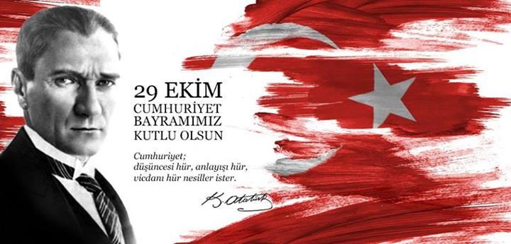 29 Ekim Cumhuriyet Bayramınız Kutlu Olsun