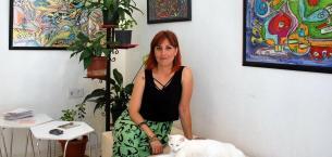 Dünya Vücut Boyama Derneği Üyesi Tek Türk Özlem Altınbilek!