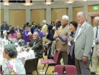 吟行の後は楽しい交流会 地元に古くから伝わる塩山太鼓や踊りに満喫いたしました。