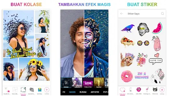 Tampilan aplikasi PicsArt Photo Studio Pro