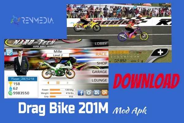 Download Drag Bike 201M Mod Apk Indonesia 2020