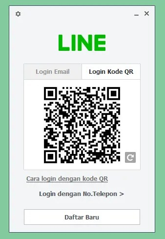 Cara Log in Line di Laptop