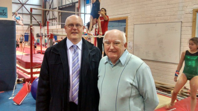 Brendan McGrath and Cllr. Declan McDonnell at RGC