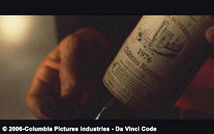 Une superbe Tour Magdala orne l'étiquette de cette bouteille de vin, preuve de la connaissance de cette affaire par Dan Brown, auteur et Ron Howard réalisateur