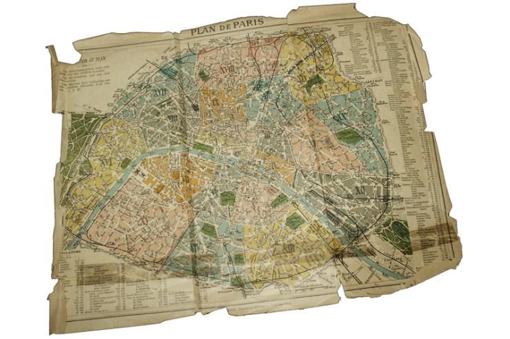 Le Plan de Paris découvert dans les archives de Bérenger Saunière