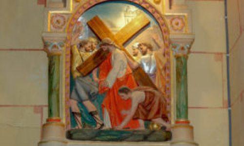 Station II du chemin de croix de l'église de Rennes-Le-Château