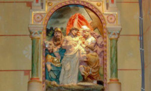 Station X du chemin de croix de l'église de Rennes-Le-Château