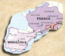 Le Royaume Franc et le Royaume Wisigoths après la bataille de Vouillé