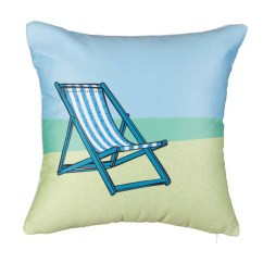 Beach Chair Pillow With Strap Kids Play Chairs Coastal Chill Out Rennie And Rose Artful Home