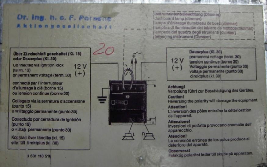 blaupunkt rd4 wiring diagram for kenwood ddx470 reno great installation of retro problem in my 82 sc rennlist porsche rh com bose bmw diagrams