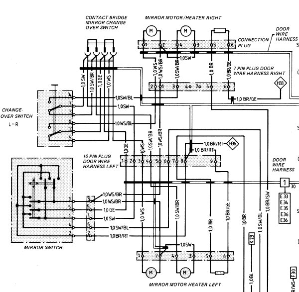 Power Mirror Switch Wiring Diagram