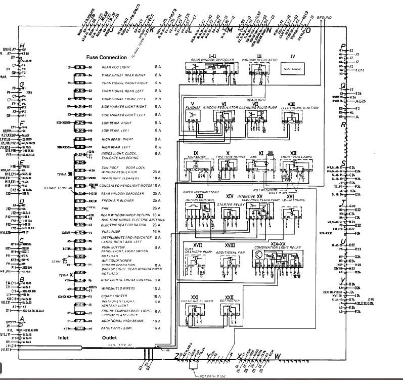 porsche 944 starter wiring diagram 1998 dodge ram 2500 headlight 84 euro relay/fuse chart. - rennlist discussion forums