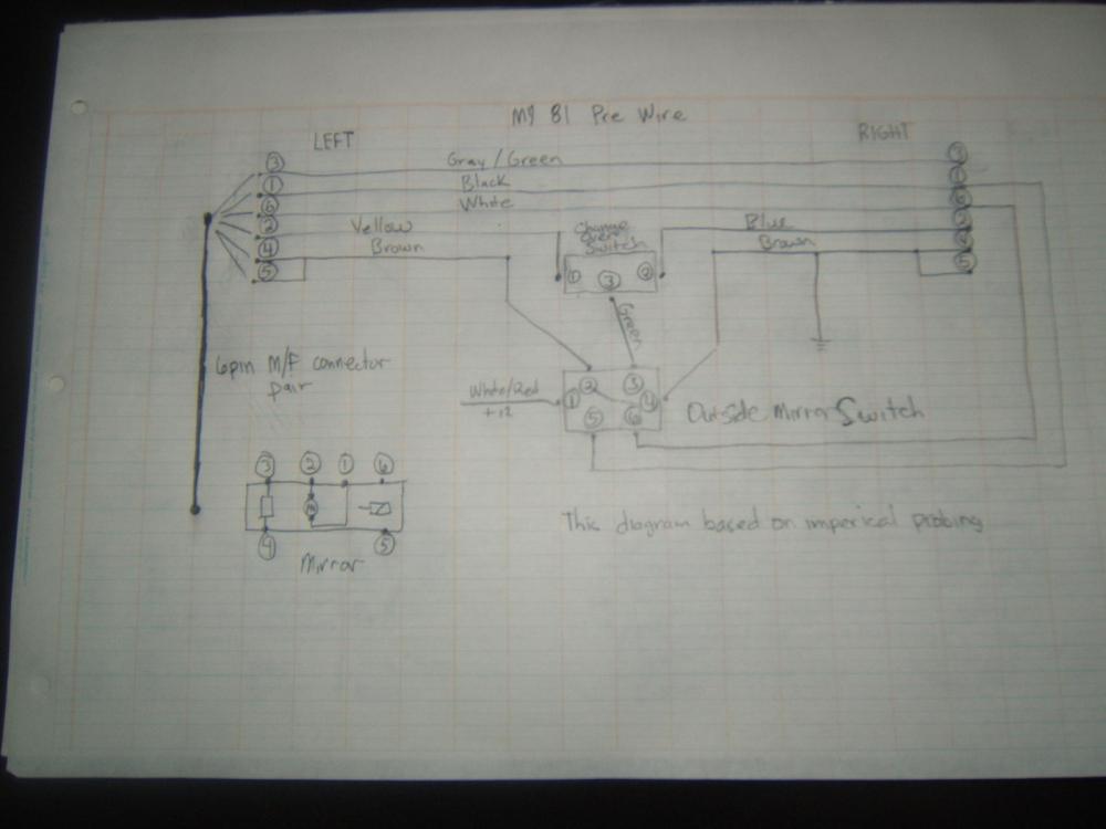 medium resolution of 80 86 aero mirror upgrade wiring solution w one relay rennlist diagram for tachometer 1984 porsche