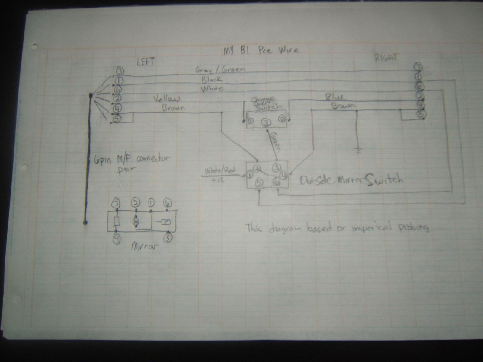 hight resolution of 80 86 aero mirror upgrade wiring solution w one relay rennlist diagram for tachometer 1984 porsche