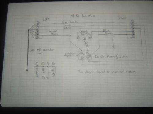 small resolution of 80 86 aero mirror upgrade wiring solution w one relay rennlist diagram for tachometer 1984 porsche