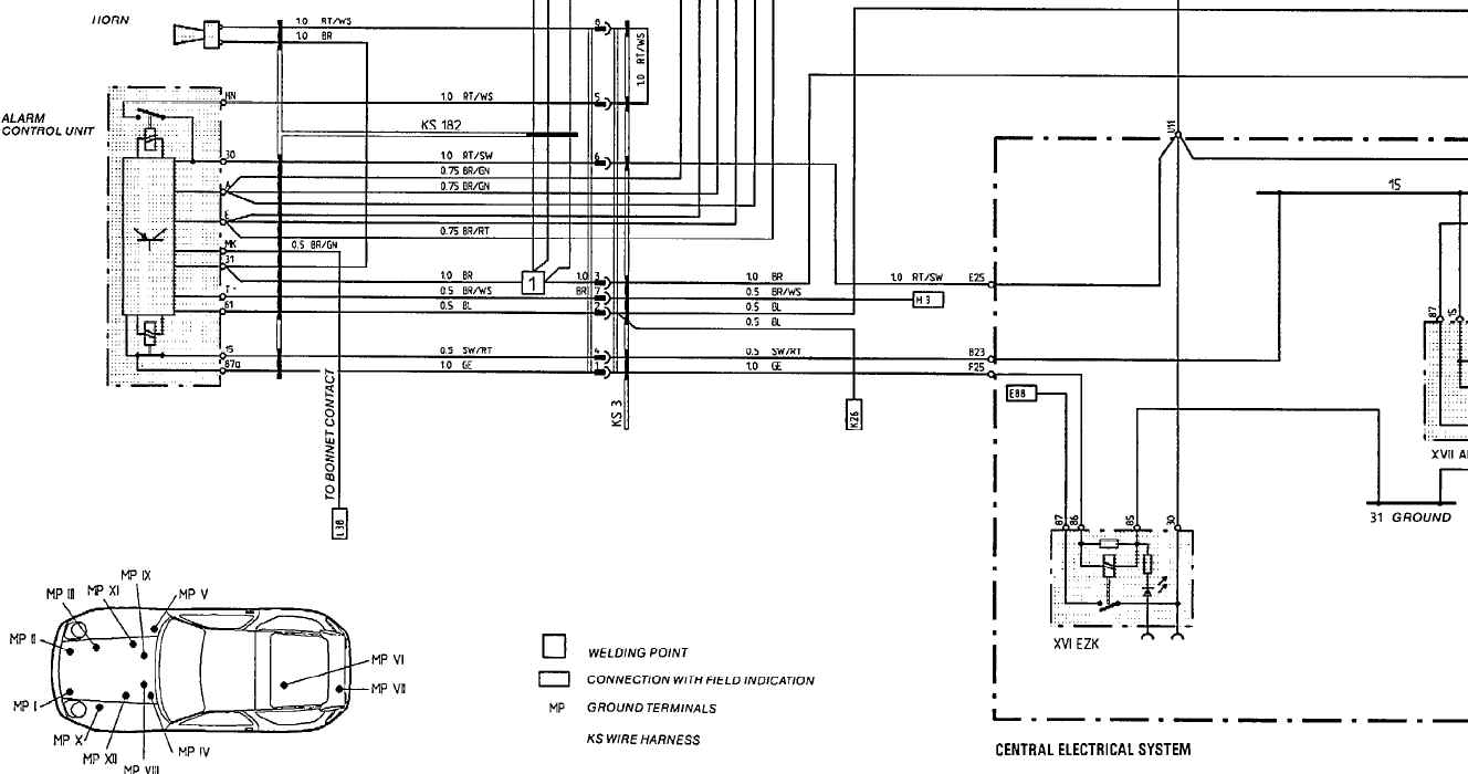 1974 porsche 911 wiper wiring diagram