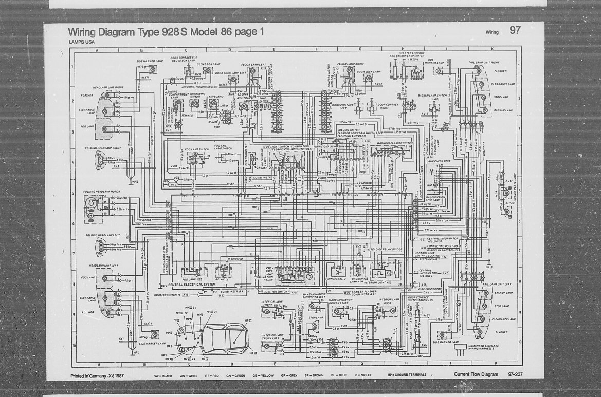 porsche 928 wiring diagram 1999 honda civic fuse wire for a 997 the hazard lights 44