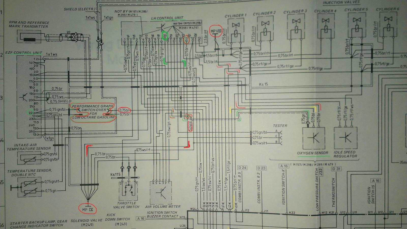 porsche wiring diagram basic house diagrams brittle o2 male connector w green wire under ce panel - rennlist discussion forums
