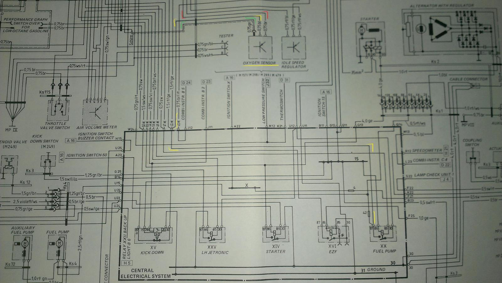 porsche 928 wiring diagram 2005 f150 ac clutch brittle o2 male connector w green wire under ce panel