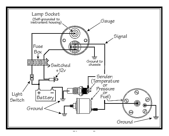 Vdo Fuel Level Gauge Wiring VDO Ammeter Wiring-Diagram