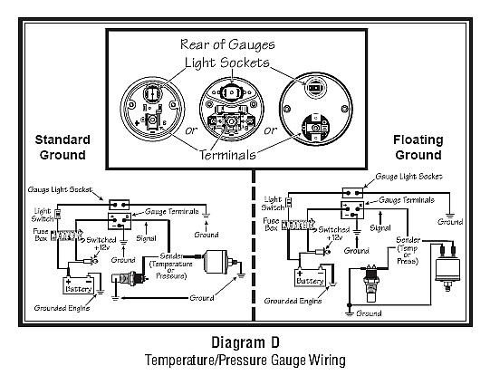 oil temp sender wiring diagram