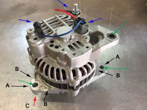 944 Turbo Nissan Alternator mod (reposted and to the point