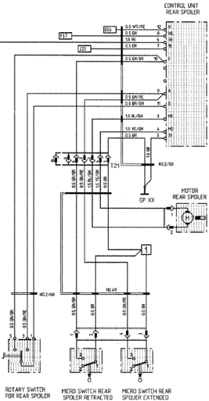Wiring Diagram for Rear Spoiler  Rennlist  Porsche