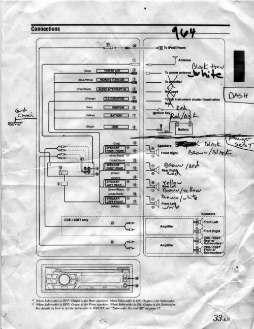small resolution of alpine cde wiring diagram wiring diagram hub 2010 chevy colorado speaker wire diagram alpine cde 102 wire diagram